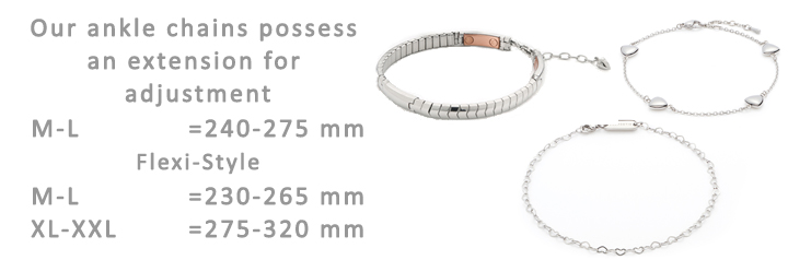 Ship Shop Style Ankle Chain Size Guide