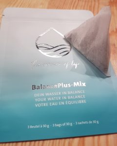 Balance Plus Mix empty packet with one Balance Plus Mix bag on top
